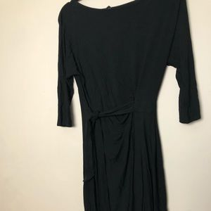 Ann Taylor Black Wrap Dress